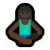 🧘🏿‍♀️ woman in lotus position: dark skin tone Emoji on Windows Platform