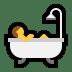 🛀 person taking bath Emoji on Windows Platform