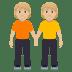 🧑🏼🤝🧑🏼 people holding hands: medium-light skin tone Emoji on Windows Platform