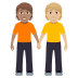 🧑🏽‍🤝‍🧑🏼 people holding hands: medium skin tone, medium-light skin tone Emoji on Windows Platform