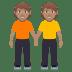 🧑🏽🤝🧑🏽 people holding hands: medium skin tone Emoji on Windows Platform