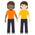 🧑🏾‍🤝‍🧑🏻 people holding hands: medium-dark skin tone, light skin tone Emoji on Windows Platform