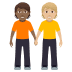 🧑🏾🤝🧑🏼 people holding hands: medium-dark skin tone, medium-light skin tone Emoji on Windows Platform