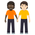 🧑🏿🤝🧑🏻 people holding hands: dark skin tone, light skin tone Emoji on Windows Platform