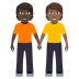 🧑🏿‍🤝‍🧑🏾 people holding hands: dark skin tone, medium-dark skin tone Emoji on Windows Platform