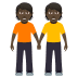 🧑🏿‍🤝‍🧑🏿 people holding hands: dark skin tone Emoji on Windows Platform