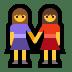 👭 women holding hands Emoji on Windows Platform