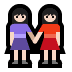 👭🏻 women holding hands: light skin tone Emoji on Windows Platform