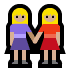 👭🏼 women holding hands: medium-light skin tone Emoji on Windows Platform