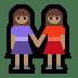 👭🏽 women holding hands: medium skin tone Emoji on Windows Platform