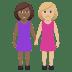 👩🏾🤝👩🏼 Medium Dark Skin Tone And Medium Light Skin Tone Women Holding Hands Emoji on Windows Platform