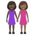 👩🏿‍🤝‍👩🏾 women holding hands: dark skin tone, medium-dark skin tone Emoji on Windows Platform
