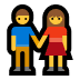 👫 woman and man holding hands Emoji on Windows Platform