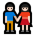 👫🏻 woman and man holding hands: light skin tone Emoji on Windows Platform
