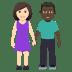 👩🏻🤝👨🏿 Light Skin Tone Woman And Dark Skin Tone Man Holding Hands Emoji on Windows Platform