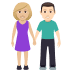 👩🏼‍🤝‍👨🏻 woman and man holding hands: medium-light skin tone, light skin tone Emoji on Windows Platform