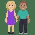 👩🏼🤝👨🏽 Medium Light Skin Tone Woman And Medium Skin Tone Man Holding Hands Emoji on Windows Platform
