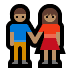 👫🏽 woman and man holding hands: medium skin tone Emoji on Windows Platform