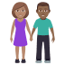 👩🏽‍🤝‍👨🏾 woman and man holding hands: medium skin tone, medium-dark skin tone Emoji on Windows Platform