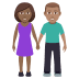 👩🏾‍🤝‍👨🏽 woman and man holding hands: medium-dark skin tone, medium skin tone Emoji on Windows Platform