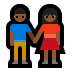 👫🏾 woman and man holding hands: medium-dark skin tone Emoji on Windows Platform