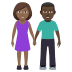 👩🏾‍🤝‍👨🏿 woman and man holding hands: medium-dark skin tone, dark skin tone Emoji on Windows Platform