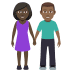 👩🏿🤝👨🏾 Dark Skin Tone Woman And Medium Dark Skin Tone Man Holding Hands Emoji on Windows Platform