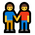 👬 men holding hands Emoji on Windows Platform