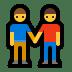 👬 Men Holding Hands Emoji on Windows Platform