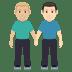 👨🏼🤝👨🏻 men holding hands: medium-light skin tone, light skin tone Emoji on Windows Platform