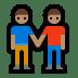 👬🏽 men holding hands: medium skin tone Emoji on Windows Platform