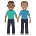 👨🏾‍🤝‍👨🏽 Medium Dark Skin Tone And Medium Skin Tone Men Holding Hands Emoji on Windows Platform