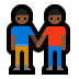 👬🏾 men holding hands: medium-dark skin tone Emoji on Windows Platform