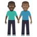 👨🏿🤝👨🏾 men holding hands: dark skin tone, medium-dark skin tone Emoji on Windows Platform
