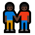 👬🏿 Dark Skin Tone Men Holding Hands Emoji on Windows Platform
