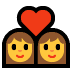 👩‍❤️‍👩 couple with heart: woman, woman Emoji on Windows Platform