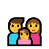 👨‍👩‍👧 family: man, woman, girl Emoji on Windows Platform