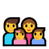 👨‍👩‍👧‍👦 family: man, woman, girl, boy Emoji on Windows Platform