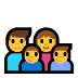 👨‍👩‍👦‍👦 family: man, woman, boy, boy Emoji on Windows Platform