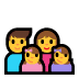 👨👩👧👧 family: man, woman, girl, girl Emoji on Windows Platform