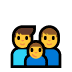 👨‍👨‍👦 Family With Man, Man And Boy Emoji on Windows Platform