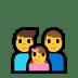 👨👨👧 family: man, man, girl Emoji on Windows Platform