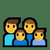 👨👨👦👦 family: man, man, boy, boy Emoji on Windows Platform