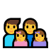 👨‍👨‍👧‍👧 family: man, man, girl, girl Emoji on Windows Platform