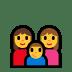 👩👩👦 family: woman, woman, boy Emoji on Windows Platform