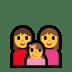 👩👩👧 family: woman, woman, girl Emoji on Windows Platform