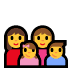 👩‍👩‍👧‍👦 family: woman, woman, girl, boy Emoji on Windows Platform