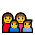 👩‍👩‍👦‍👦 family: woman, woman, boy, boy Emoji on Windows Platform