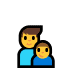👨‍👦 family: man, boy Emoji on Windows Platform