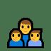 👨👦👦 family: man, boy, boy Emoji on Windows Platform